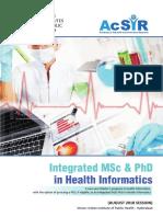 IIPH Hyderabad--Health Informatics, Brochure, 2018