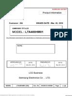 LTA400HM01 Samsung