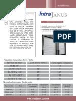 Ficha técnica cortina intra janus mod. 2500