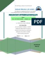 MODELO DE PLAN DE EXPORTACIÓN