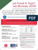 2019 Christmas Bureau Poster