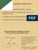 Ecuacion de la Parábola