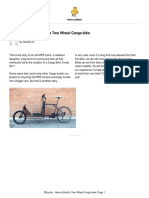 REcycle How to Build a Two Wheel Cargo Bike