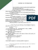 Criterii de Divizibilitate - matematica
