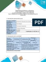 Guía de actividades y rúbrica de evaluación - Fase 3 - Análisis de la política pública y las perspectivas de desarrollo