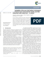 (Un)Suitability of the Use of PH Buffers in Biological,