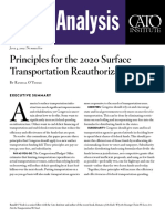 Principles for the 2020 Surface Transportation Reauthorization