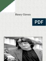 Henry Giroux - Teoria crítica e resistência em educação