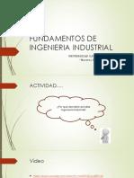Fundamentos de la Ingeniera Industrial
