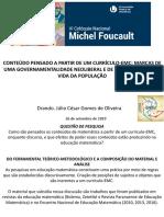 Apresentação Colóquio Michel Foucault.