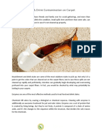 Food Drink Contamination on Carpet