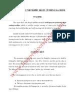 Multi Purpose Pneumatic Sheet Cutting Machine Frame 6500