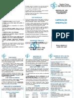 Folder Orientação de Internação Acompanhante Visita Final