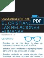 Colosenses 3:18 4:16