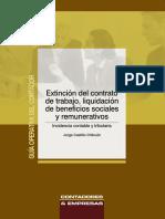Extincion Del Contrato de Trabajo, Liquidacion de Beneficios Sociales CPT