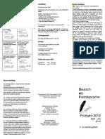 Deutschkurse Zusatzangebote April_Juli 2019