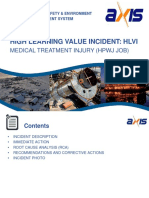 High Learning Value Incident (May 2019)