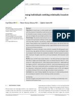 Psychopathology among individuals seeking minimally invasive