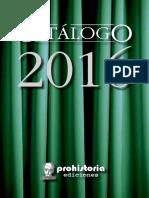 Catalogo Prohistoria - 2016