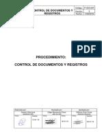 P-SIG-007 Procedimiento de Control de Documentos y Registros