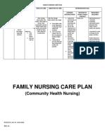 Family nursing care plan sampe