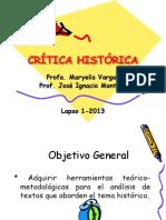 Guía de aplicación de metodología de la crítica histórica y análisis documental