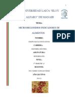 Microorganismo Indicadores de Alimentos
