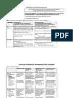 individualized professional development plan