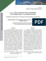Estrategias y recursos para la enseñanza de la homeostasis y la autorregulación.