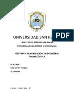 Gestión y Planificación en Industria Farmacéutica
