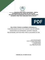 Relatório 01 - Funcionalidade de Adultos e Idosos Com Deficiência