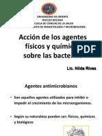 Acción de los Agentes físicos y químicos sobre las bacterias