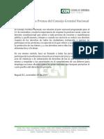 Comunicado de Prensa Del CGN