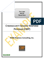 Example Cybersecurity Incident Response Program Cirp
