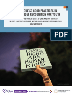 ONLY ADULTS? GOOD PRACTICES IN LEGAL GENDER RECOGNITION FOR YOUTH