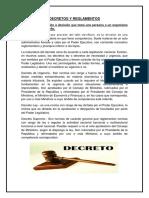 Decretos y Reglamentos