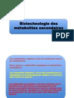 COURS Metabolites Secondaires