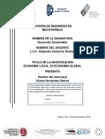 ECONOMÍA LOCAL VS ECONOMIA GLOBAL