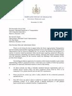 Delegate Korman letter to MTA RE MobilityLink