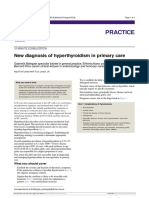 New Diagnosis of Hyperthyroidism in Primary Care. Bathagate. 2018
