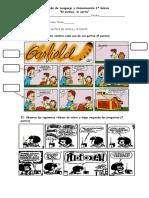 Evaluación de Lenguaje y Comunicación 2° básico el comics y la receta