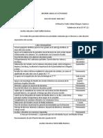 Informe Anual de Actividades de Sae Rub