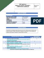 Manual de Funciones Asesor Comercial....