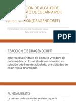 Identificación de Alcaloide (Clorhidrato de Cocaína)Por Método