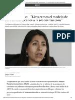 """Amalia Moreno_ """"Llevaremos El Modelo de Los Panamericanos a La Reconstrucción"""" Perú _ El Comercio Perú"""