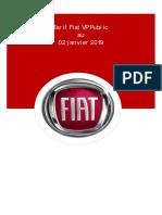 Tarif Public Fiat VP Au 02 Janvier 2019