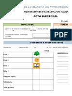 Diseño de Acta Electoral para municipio escolar