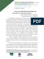 AS FONTES ORAIS E O CONHECIMENTO HISTÓRICO EM SALA DE AULA