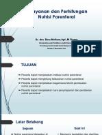 Penyiapan Dan Perhitungan Nutrisi Parenteral