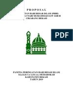 Proposal Isra' Mi'Raj Nabi Muhammad Saw 1440 h